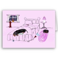 Dachshunds Greeting Card from Zazzle.com