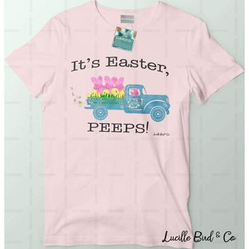 Peeps-Mobile Easter Holiday Vintage Truck Graphic Tee