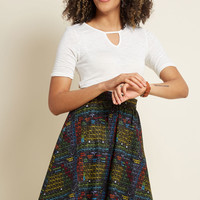 Lively Vibe Cotton A-Line Skirt in Periodic Table
