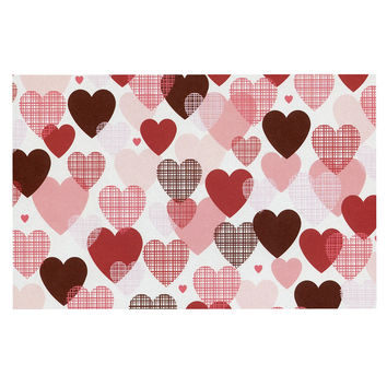 "Heidi Jennings ""Love"" Pink Red Decorative Door Mat"