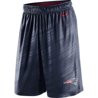 New England Patriots Nike Fly Warp Performance Shorts – Navy Blue