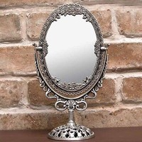 Oval_S Vanity mirror - Classic Antique Decor Mirror Tin Frame housewarming gift