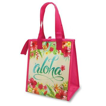 """Aloha Floral"" Insulated Cooler Bag, Small"