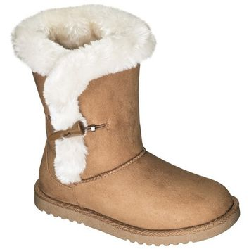 Girl's Cherokee® Gelsey Shearling Boots - Chestnut