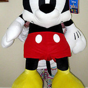 "Walt Disney 48"" Jumbo Mickey Mouse Plush Stuffed Animal Toy-New with Tags!"