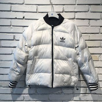 Adidas Originals White Down Reversible Jacket