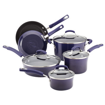 10-Pc Porcelain II Cookware Set (Purple Gradient)