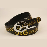 D&G Woman Fashion Smooth Buckle Belt Leather Belt-1