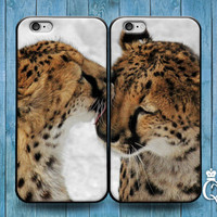 iPhone 4 4s 5 5s 5c 6 6s plus + iPod Touch 4th 5th 6th Gen Cute Fun Best Friend Couple Bf Gf Kiss Phone Case Funny Cheetah Cat Hug Cover