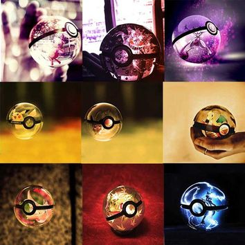 Crystal Ball Pokemon colorful led lamp 12 styles