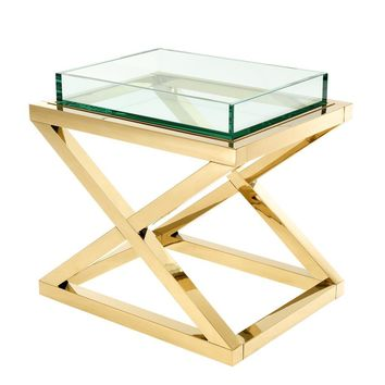 Gold X Leg Side Table | Eichholtz Curtis