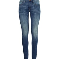H&M - Skinny Regular Jeans - Denim blue - Ladies