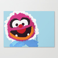 Animal Muppets Babies Stretched Canvas by Roe Mesquita