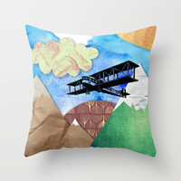 Paper plans Throw Pillow by Li9z | Society6
