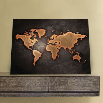 Rustic World Map 11 x 14 Canvas Set (Free Shipping)
