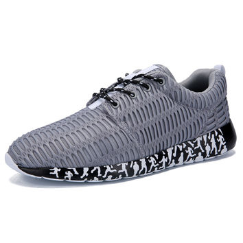 2016 New Arrival Mens Breathable Air Mesh Outdoor Sport Athletic Running Shoes  Lace Up Light Walking Sneakers Size (39-44)