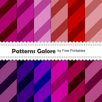Colorful Digital Paper Backgrounds - Website Background- Blog Background- Scrapbook Paper - 12 High Res Digital Patterns - 300 DPI - P013