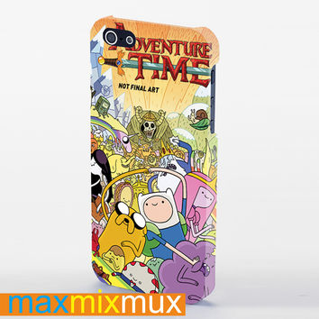Adventure Time All Characters iPhone 4/4S, 5/5S, 5C Series Full Wrap Case