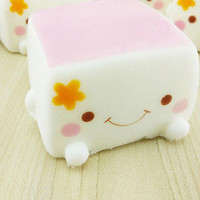 Colorful Soft Squishy Chinese Tofu Adorable Expression Smile Face Fun Toys