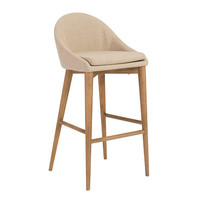 Baruch-B Bar Stool Tan/Walnut