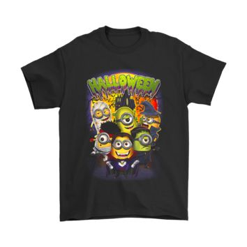 ESBCV3 Cute Minions In Costume Despicable Me Halloween Shirts