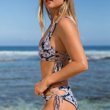 ACACIA Swimwear 2018 Murray Bottom in Blue Magnolia