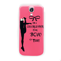 Cheers Cheerleader Bow To Toe For Samsung Galaxy S4 Case