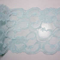 Robin's Egg Blue Lace 7 inches wide x 1 yard