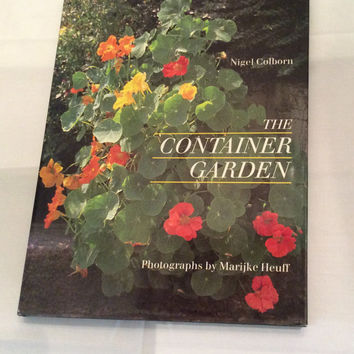 The Container Garden Urban Gardening Outdoors Vintage Book Yard Planter Summer Patio Flowers Balcony Planters Green Thumb Coffee Table