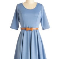 ModCloth Minimal Mid-length 3 A-line Abiding Beauty Dress in Blue