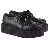 OASAP - Lace Up Creepers with PU Detailed Toe - Street Fashion Store