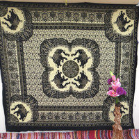 Large Big elephant tapestry wall hanging dorm decor mandala throw tapestries beach throw blanket table cloth tapestry