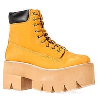 Jeffrey Campbell The Nirvana Boot in Wheat