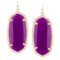 Elle Earrings in Purple Jade - Kendra Scott Jewelry