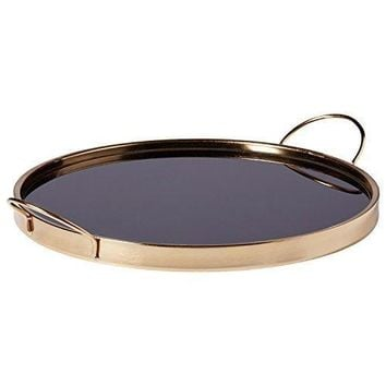 Contemporary Gold Metal Tray