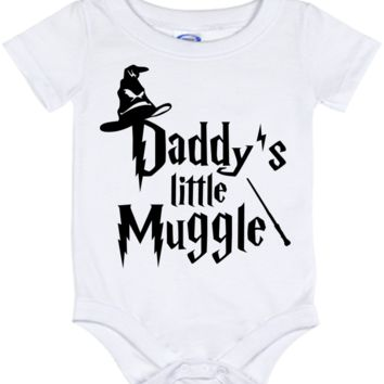 Cute Harry Potter Daddy's Muggle Onesuit - all sizes from (New born - 24 months)