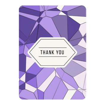 Purple Fractal Thank You Card