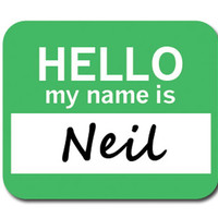 Neil Hello My Name Is Mouse Pad