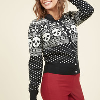 Happy Skull-idays Cardigan | Mod Retro Vintage Sweaters | ModCloth.com