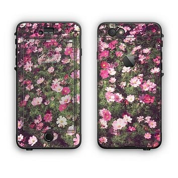The Vintage Pink Floral Field Apple iPhone 6 Plus LifeProof Nuud Case Skin Set