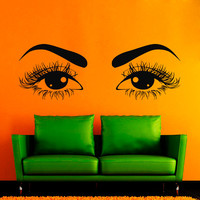 Wall Decals Vinyl Sticker Decal Home Decor Art Murals Perfect  Woman Eyes  Beauty Salon NA214