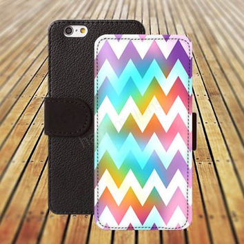 iphone 5 5s case chevron rainbow colorful iphone 4/4s iPhone 6 6 Plus iphone 5C Wallet Case,iPhone 5 Case,Cover,Cases colorful pattern L191