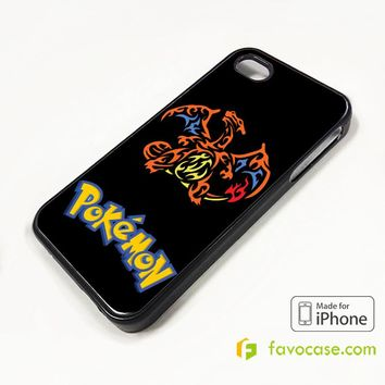 POKEMON CHARMANDER CHARMELEON CHARIZARD iPhone 4/4S 5/5S/SE 5C 6/6S 7 8 Plus X Case Cover