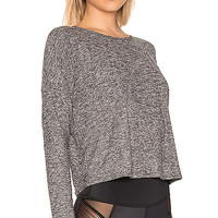 Beyond Yoga Morning Lightweight Cropped Pullover in Black & White | REVOLVE