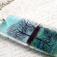 Resin Necklacereflections translucent resin necklace by underglass