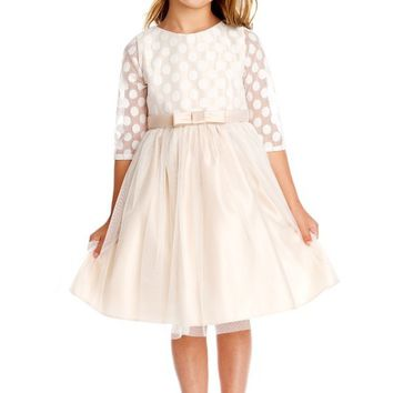 Girls Polka Dot Tulle Party Dress
