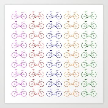 Bike 2, Vector, Design Art Print by Claude Gariepy