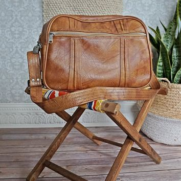Vintage 1970s Butterscotch + Carry On Bag