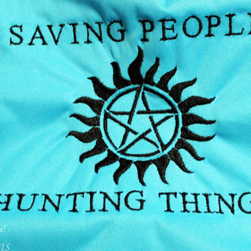 PLEASE READ to ORDER Supernatural Saving People Hunting Things One Size Pocket Diaper or Diaper Cover
