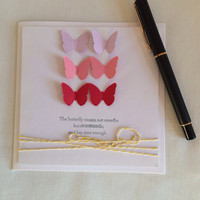 Pack of Handmade Cards - Butterfly Handmade Pack of 10 Cards
